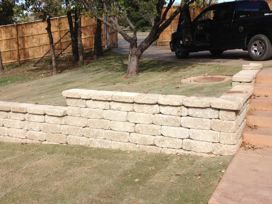 Retaining Walls Drainage OUTDOORS UNLIMITED Tulsa